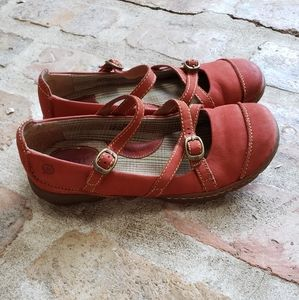 Born Red leather mary jane suede comfort shoes 38